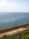 Italy - Corniglia, Cinque Terre, province of La Spezia  - railway station over the Ligurian Sea - photo by D.Hicks