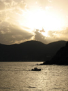 Italy - Manorola, Cinque Terre - Evening - seen from Vernazza - photo by D.Hicks