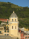 Italy - Vernazza, Cinque Terre - church tower - photo by D.Hicks