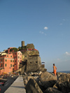 Italy - Vernazza, Cinque Terre - from the pier - photo by D.Hicks