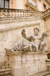 Rome, Italy: river god of the Nile by Michelangelo Buonarroti - statue outside Palazzo Senatorio in Piazza Campidoglio - photo by I.Middleton