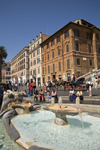 Rome, Italy: Barcaccia Fountain in Piazza di Spagna - by Pietro Bernini and his son Gian Lorenzo Bernini - photo by I.Middleton