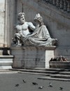 Rome, Italy: Tiber holding a cornucopia in Palazzo Senatorio, sculpture by by Giacomo Antonio Fancelli - Campidoglio - photo by A.Dnieprowsky / Travel-images.com