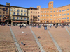 Italy / Italia - Siena  (Toscany / Toscana) / FLR : on Piazza del Campo - Palazzo Pubblico - Unesco world heritage site - photo by M.Bergsma