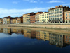 Pisa, Tuscany - Italy: reflections in the Arno River - photo by M.Bergsma
