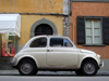 Pisa, Tuscany, Italy: Fiat 500 - very small Italian car - photo by M.Bergsma