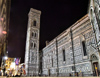 Florence / Firenze - Tuscany, Italy: the Duomo and Giotto's marble-clad Campanile - nocturnal - photo by M.Bergsma