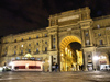 Florence / Firenze - Tuscany, Italy: arch at Piazza della Republica nocturnal - photo by M.Bergsma