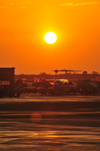 Rome, Italy: sunset - Fiumicino - Leonardo da Vinci Airport - photo by M.Torres