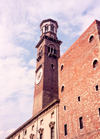 Verona  - Venetia / Veneto, Italy: tower - Torre dei Lamberti - photo by M.Torres