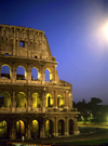 Rome, Italy: Colosseum - nocturnal view - built for 80,000 spectators - photo by J.Fekete