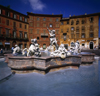 Rome, Italy: Fountain of Neptune, by Giacomo della Porta - Piazza Navona - photo by J.Fekete