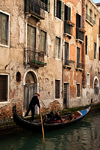 V03-Gondola at porte d'acqua on Rio de la Veste, Venice - photo by A.Beaton