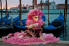 Carnival participant with Carnival costume at Dawn by Canale di San Marco, Venice - photo by A.Beaton