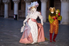 Carnival participants with Carnival costumes in Piazza San Marco, Venice - photo by A.Beaton