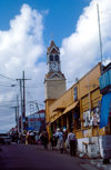 Jamaica - Santa Ana: street scene - Clock tower - photo by F.Rigaud