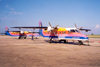 Montego bay / MBJ : colourful airline - Air Jamaica Express - Spirit of Portland on the tarmac Dornier Do-228 aircraft (photo by Miguel Torres)