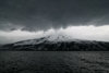 Jan Mayen island: sea, clouds and the Beerenberg mountain - 2277 m - Nord-Jan- photo by R.Behlke