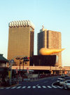 Japan - Tokyo: architecture inspired by Salvador Dali - Asahi beer company building - photo by M.Torres