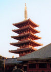 Japan - Tokyo: pagoda - photo by M.Torres