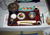 Japan (Honshu island) Gora: Japanese meal at a Ryokan - photo by G.Frysinger