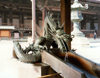 Japan - Kyoto - Honshu island: Dragon - fountain at a Buddhist temple - photo by M.Torres