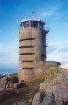 Jersey - Corbiere point: radio station on a German naval observation bunker - quality in construction, blockhaus built by organisation Fritz Todt