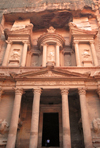 Jordan - Petra: Khazneh - treasury - facade - UNESCO world heritage site - photo by M.Torres