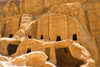 Jordan - Petra: cluster of tombs - Street of Facades - photo by M.Torres