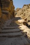 Jordan - Petra: Wadi ad Deir - stairs - photo by M.Torres