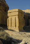 Jordan - Petra: Djinn block - Bab-as-Siq - photo by M.Torres