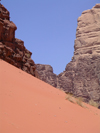 Jordan - Wadi Rum - Aqaba governorate: steep dune - photo by R.Wallace