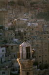 Jordan - Amman / AMM /ADJ: mosque - minaret and dense housing - photo by J.Wreford
