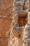 Ajlun - Jordan: Ajlun castle - corbels of a ruined balcony - photo by M.Torres