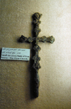 Ajlun - Jordan: Ajlun castle - iron cross from Mar Elyas Church - photo by M.Torres