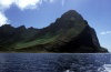 Juan Fernandez islands - Robinson Crusoe island: Puerto Ingl�s from the ocean (photo by Willem Schipper)