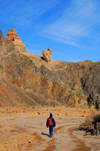Kazakhstan, Charyn Canyon: Valley of the Castles - trekking along the gorge - photo by M.Torres