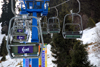 Kazakhstan - Chimbulak ski-resort, Almaty: Chairlift - ski lift - elevated passenger ropeway - photo by M.Torres
