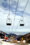 Kazakhstan - Chimbulak ski-resort, Almaty: chairlift - 2nd stage, - photo by M.Torres