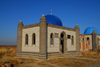 Kazakhstan, Shelek, Almaty province: Muslim cemetery - mosque inspired tomb - photo by M.Torres