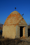 Kazakhstan, Shelek, Almaty province: Muslim cemetery - Central Asian beehive - photo by M.Torres