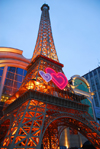 Kazakhstan, Almaty: the French house - a bit of Paris and Las Vegas - mock Eiffel Tower - photo by M.Torres