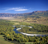 Kazakhstan - Buhtarma river - East Kazakhstan oblys: flowing from the Altai mountains - meander - photo by V.Sidoropolev