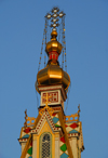 Kazakhstan, Almaty: Holy Ascension Russian Orthodox Cathedral - golden onion - photo by M.Torres