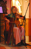 Kazakhstan, Almaty: violin player - photo by M.Torres