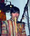 Kazakhstan, Almaty: flautist - photo by M.Torres
