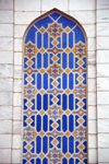 Kazakhstan, Almaty: Central Mosque - niche decorated with tiles, facing Pushkin street - photo by M.Torres