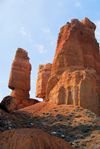 Kazakhstan, Charyn Canyon: Valley of the Castles - rock formations - tower and blade - photo by M.Torres