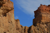 Kazakhstan, Charyn Canyon: Valley of the Castles - red rocks and blue sky - photo by M.Torres