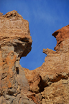 Kazakhstan, Charyn Canyon: Valley of the Castles - window - photo by M.Torres